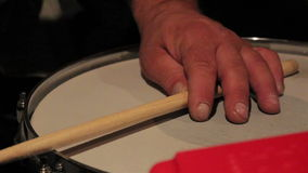 Drumsticks playing to the rhythm Royalty Free Stock Photo