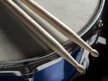Drumsticks snare drum Stock Images
