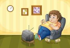 Drunk. Illustration of a drunk fat man Royalty Free Stock Photos