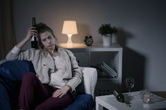 Drunk and alone Stock Photos