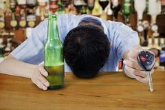 Drunk Asian Man Royalty Free Stock Image