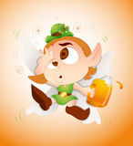 Drunk Baby Leprechaun Stock Image