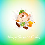 Drunk Baby Leprechaun Greeting Stock Photo