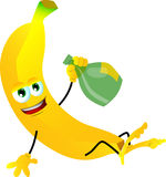 Drunk banana Royalty Free Stock Image