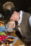 Drunk bavarian man Royalty Free Stock Photo