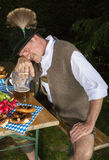 Drunk bavarian man Stock Image