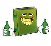 Drunk book cartoon Royalty Free Stock Photography