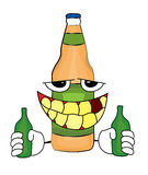 Drunk Bottle cartoon Stock Photography
