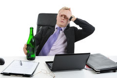 Drunk businessman Stock Photos