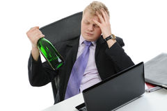 Drunk businessman Royalty Free Stock Photos