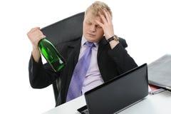 Drunk businessman Royalty Free Stock Photos