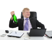 Drunk businessman Stock Image