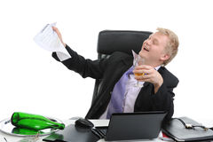 Drunk businessman Royalty Free Stock Photo