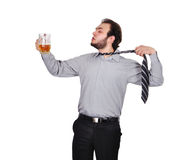 Drunk businessman Royalty Free Stock Image