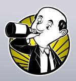 Drunk businessman Royalty Free Stock Image