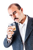 Drunk businessman Stock Images