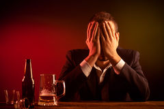 Drunk Businessman Stock Photography