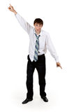 Drunk businessman with ragged clothes Stock Image