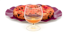 Drunk cake is a dessert from Elba island Royalty Free Stock Photos