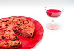 Drunk cake is a dessert from Elba island Royalty Free Stock Images