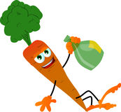 Drunk carrot Royalty Free Stock Photo