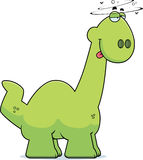 Drunk Cartoon Apatosaurus Stock Image