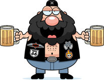 Drunk Cartoon Biker Royalty Free Stock Photo