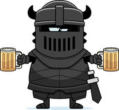 Drunk Cartoon Black Knight Royalty Free Stock Images