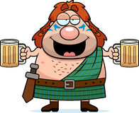Drunk Cartoon Celtic Warrior Royalty Free Stock Photography