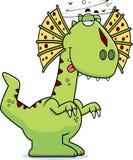 Drunk Cartoon Dilophosaurus Stock Images