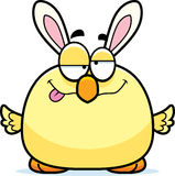 Drunk Cartoon Easter Bunny Chick Stock Photos