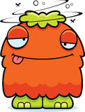 Drunk Cartoon Fluffy Monster Royalty Free Stock Photography