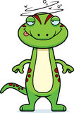Drunk Cartoon Gecko Royalty Free Stock Images