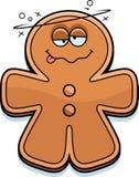 Drunk Cartoon Gingerbread Man Stock Photos
