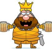 Drunk Cartoon King Stock Image