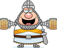 Drunk Cartoon Knight. A cartoon illustration of a knight looking drunk Stock Images