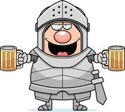 Drunk Cartoon Knight Stock Images