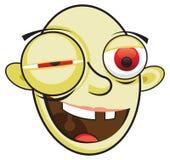 Drunk cartoon man. A vector image of a cartoon drunken toothless man Stock Image
