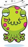 Drunk Cartoon Monster Stock Image