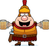 Drunk Cartoon Roman Centurion Royalty Free Stock Photo