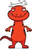Drunk Cartoon Salamander Royalty Free Stock Photos