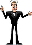 Drunk Cartoon Spy in Tuxedo Stock Photography