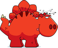 Drunk Cartoon Stegosaurus Stock Image