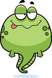 Drunk Cartoon Tadpole. A cartoon illustration of a tadpole looking drunk Royalty Free Stock Images