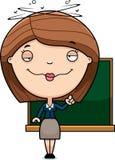 Drunk Cartoon Teacher Stock Photography