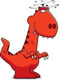 Drunk Cartoon Velociraptor Stock Photography