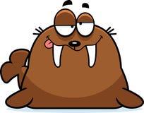 Drunk Cartoon Walrus Stock Photography