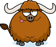 Drunk Cartoon Yak. A cartoon illustration of a yak looking drunk Stock Photography