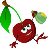 Drunk cherry Stock Photography