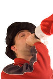 Drunk Christmas Royalty Free Stock Photography